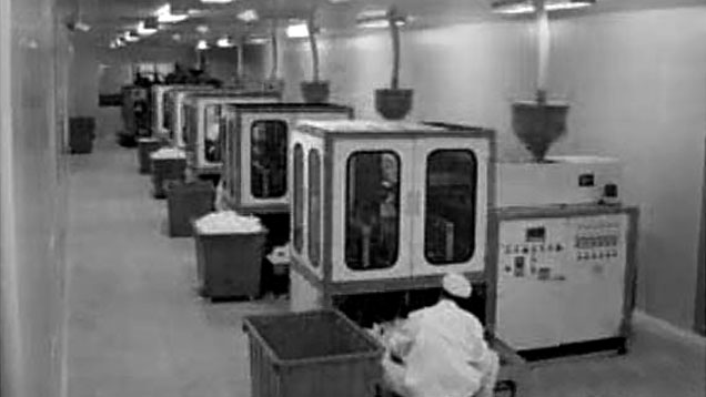 Row of Blow Molding Machines